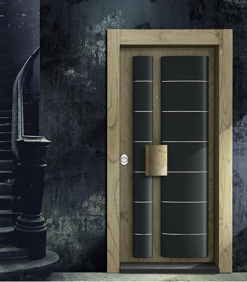 Antik Meşe I Siyah - Çorum Çelik Kapı